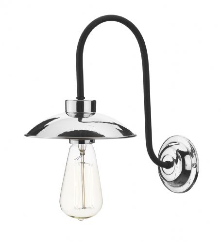 Dallas 1 Light Wall Light Polished Chrome DAL0750 (Hand made, 7-10 day Delivery)